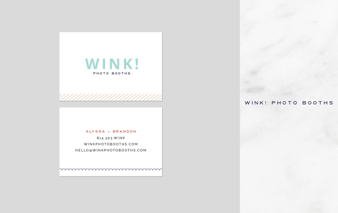 wink stationery business card