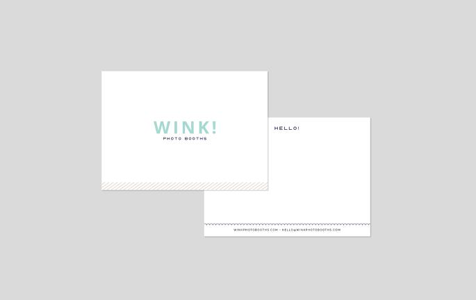 wink stationery notecard